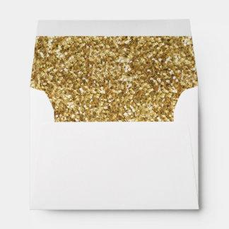 """A6 Gold Glitter White Envelope (6.5"""" x 4.75"""")"""