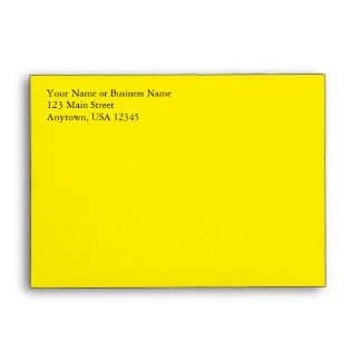 A6 Lemon Yellow Pre-Addressed Envelopes