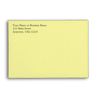 A6 Light Pale Yellow Pre-Addressed Envelopes