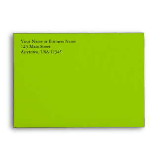 A6 Lime Green Pre-Addressed Envelopes