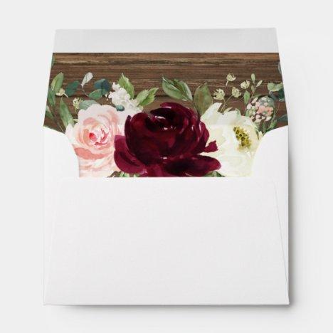 A6 Notecard Rustic Wood Envelope