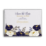 A6 Save the Date Quinceanera Navy Blue Envelope