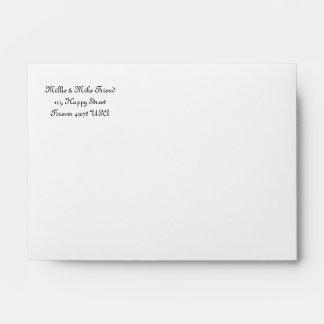 A6  White Addressed Envelope
