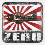 A6M Zero Square Stickers