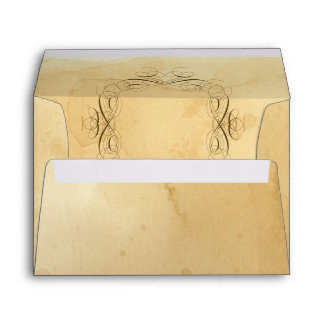 A7 5 x 7 Tea Stained Vintage Wedding 1 - Matching Envelope