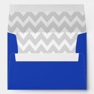 A7 5x7 Blue White Gray Chevron Envelopes