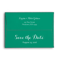 A7 5x7 Emerald Green Save The Date Envelope