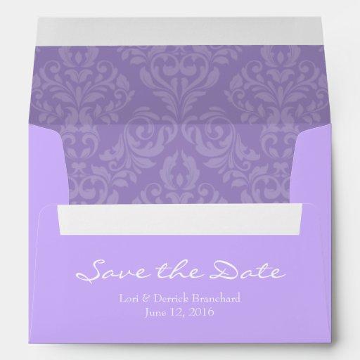 a7 5x7 lavender purple save the date envelopes zazzle