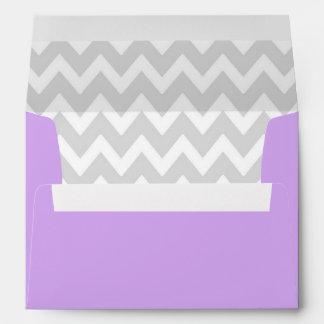 A7 5x7 Lavender Purple White Gray Chevron Envelope