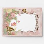 A7 5x7 Les Fleurs Peony Rose Tulip Floral Flowers Envelope