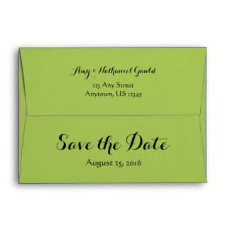 A7 5x7 Lime Green Save The Date Envelopes