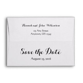 A7 5x7 White Custom Save The Date Envelopes