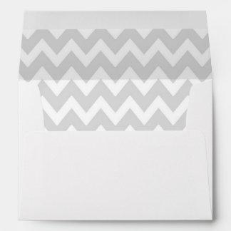 A7 5x7 White Gray Chevron Envelopes