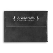 A7 Black Chalkboard Wedding Mailing Envelope