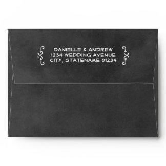 A7 Black Chalkboard Wedding Mailing Envelope