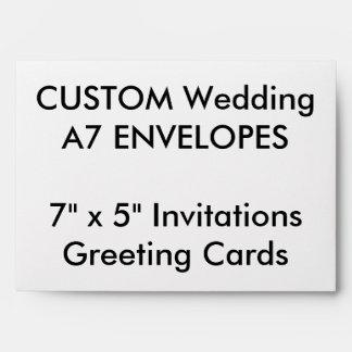 """A7 de encargo envuelve 7"""" x 5"""" las invitaciones y sobres"""