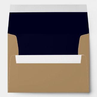 A7 Envelope Gold/Dark Blue