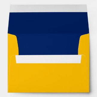 A7 enveloppe uni geel/blauw