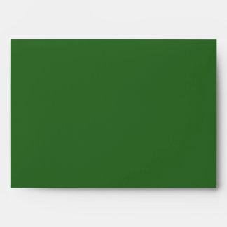 A7 Green Candy Cane Striped Christmas Envelopes