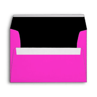 A7 Hot Pink and Black Color Combo Envelopes