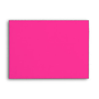 A7 Hot Pink Butterfly Flap Damask Envelopes