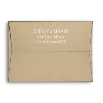 A7 Kraft Mailing Envelope with Return Address