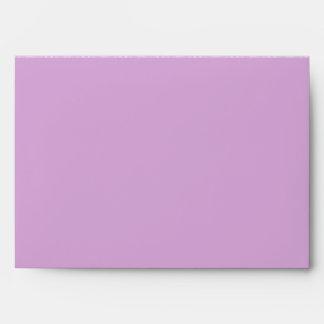 A7 Lavender Purple Butterfly Flap Damask Envelopes
