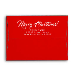 A7 Merry Christmas envelopes with custom address