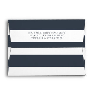 A7 MODERN Chic Wide Stripes w Vintage Hydrangea Envelopes