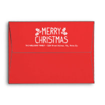 A7 Red Merry Christmas Holiday Mailing Envelope