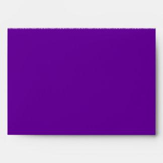 A7 Royal Purple Butterfly Flap Damask Envelopes