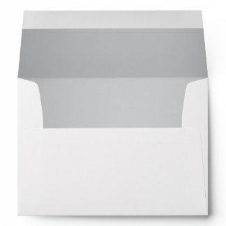 A7 Silver Return Address Wedding Mailing Envelope