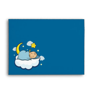 A7 Sleeping Baby Boy Baby Shower Envelopes