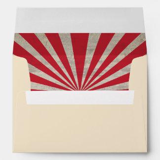 A7 Steampunk Sunburst Lined Cream Envelope
