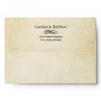 A7 Vintage Flourish Wedding Mailing Envelope