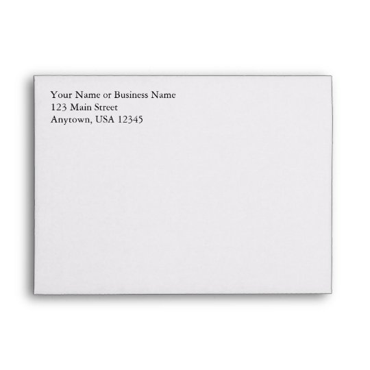 A7 White Pre-Addressed Envelopes
