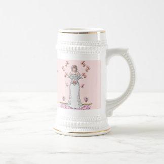A82 Cherry Blossom Bride Toasting Stein 18 Oz Beer Stein