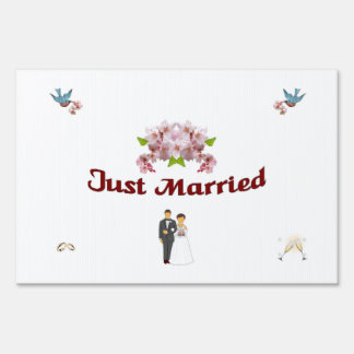 """A91 """"Just Married"""" Yard Sign"""