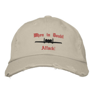 A-10 Attack Golf Hat W/Call Sign on Back Embroidered Hat