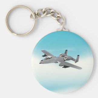 A-10 Bomber Aircraft Basic Round Button Keychain