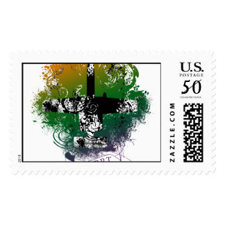 A-10 Colorful Postage Stamp