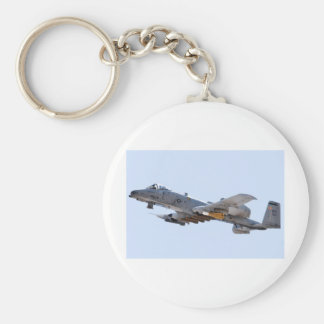 A-10 Country Basic Round Button Keychain