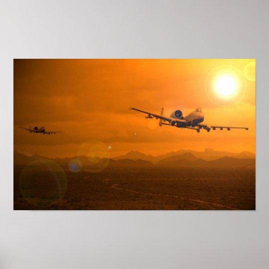 A-10 Desert Sunset Poster
