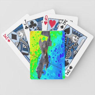 A-10 Playing Cards - colorful abstract background