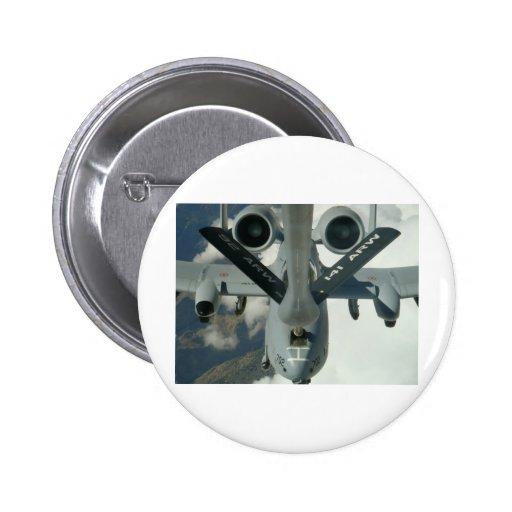 A-10 que es reaprovisionado de combustible por KC- Pin