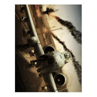 A-10 Thunderbolt Airplane Postcard