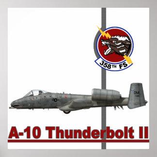 A-10 Thunderbolt II 358th Fighting Squadron Print