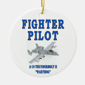 A-10 THUNDERBOLT II Double-Sided CERAMIC ROUND CHRISTMAS ORNAMENT