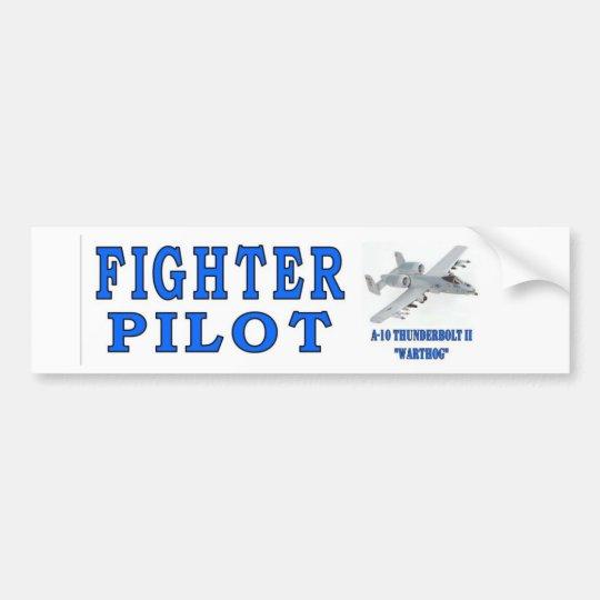 A-10 THUNDERBOLT II FIGHTER PILOT BUMPER STICKER