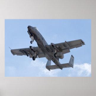 A-10 Thunderbolt II, OT AF 79 199, on Approach Poster